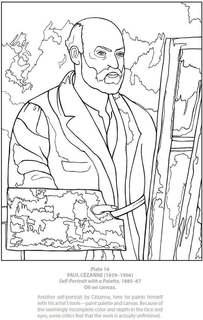 You Self Portrait Coloring Pages Self Portrait Coloring Page