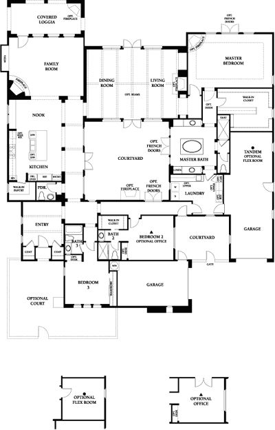 61 best images about courtyard houses plans on pinterest for Brodie house plan