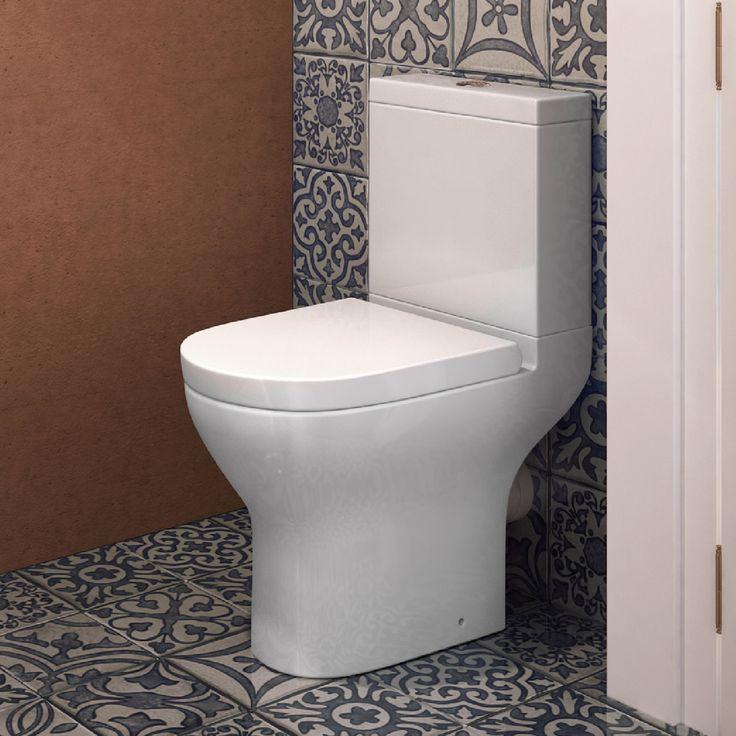 Bali Short Projection Close Coupled Toilet & Cistern inc Soft Close Seat