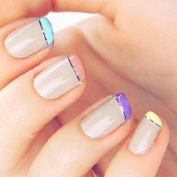 Ideas para pintar las uñas en Primavera-Verano