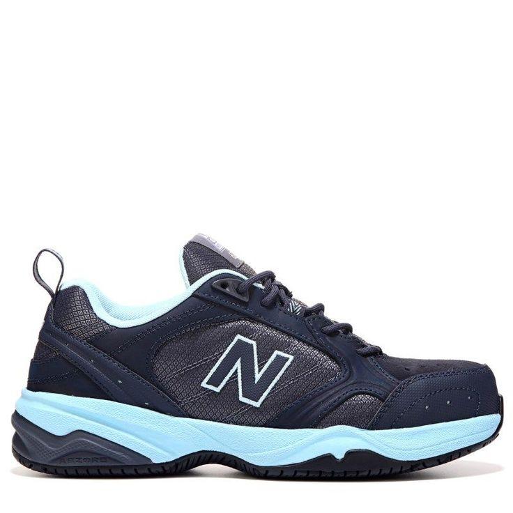 New Balance Women's 627 Medium/Wide/X-Wide Steel Toe Sneakers (Navy/Light Blue)