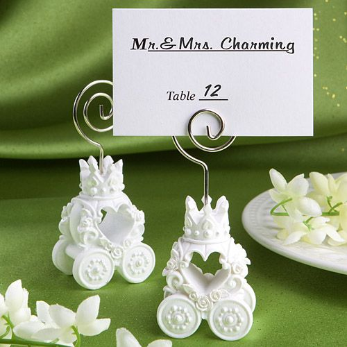Royal Coach Design Place Card Holder  Favors - perfect for your royal wedding theme!
