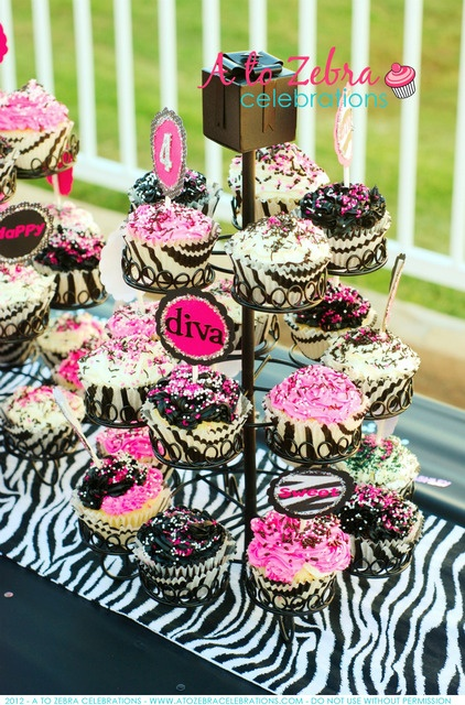perfect cupcakes for a Zebra party