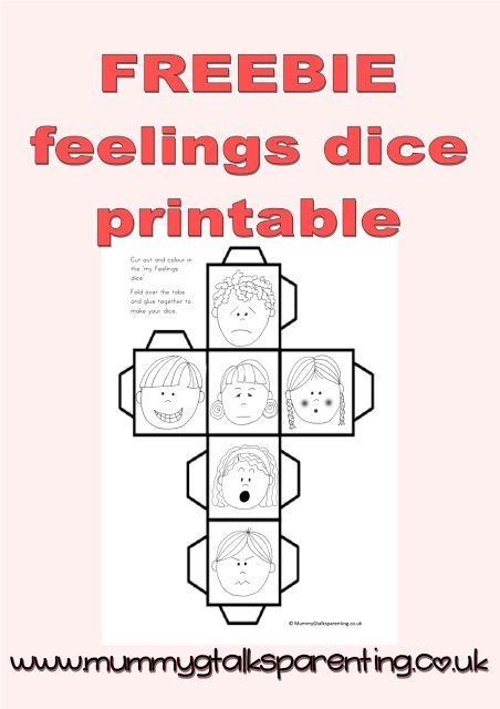 freebie my feeling dice printable teaching pbis pinterest feelings parenting and dice. Black Bedroom Furniture Sets. Home Design Ideas