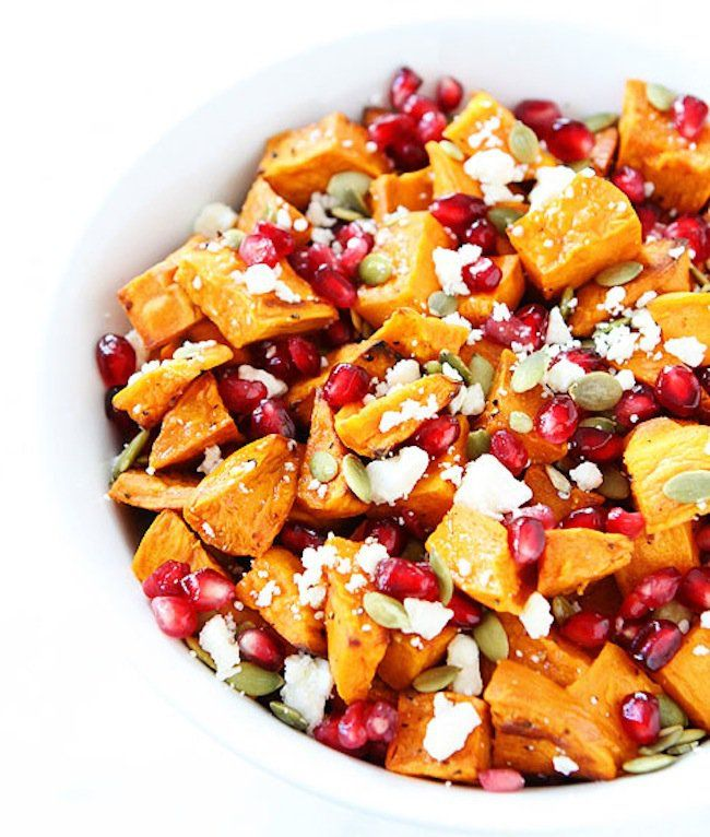 Sweet Potato Pomegranate Salad from Two Peas and Their Pod