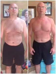 Before and after photo.  Lost 30lbs with TLS wieght loss solution.  Find out more @ http://1000CalorieaDayDiet.com