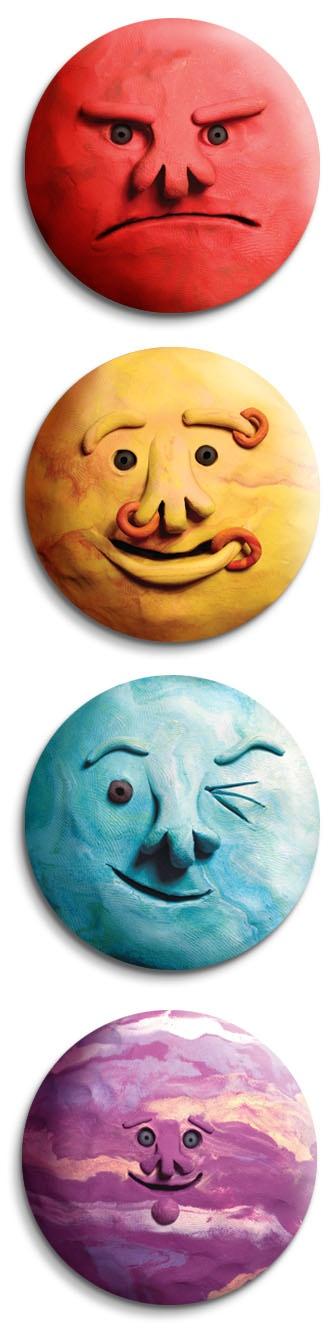 QuinkyArt: Planets, sweet! Mars, Saturn (with his rings) Uranus and Jupiter in the medium of plasticine.