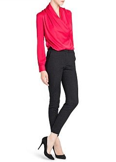MANGO - CLOTHING - Trousers - Jacquard slim trousers, love these pants