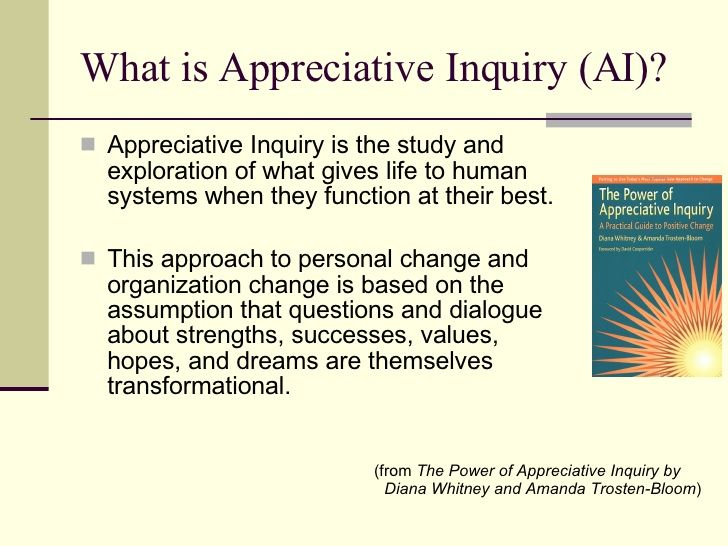97 best appreciative inquiry images on pinterest appreciative program presented an overview of appreciative inquiry the study and exploration of what gives life to human systems when they function at their best fandeluxe Gallery