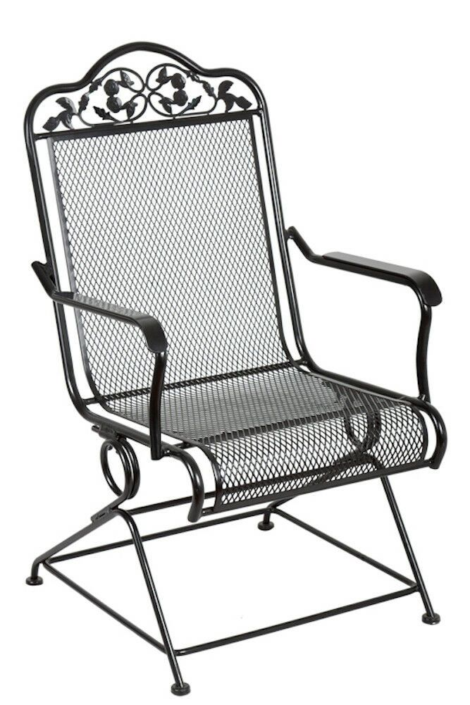 This Stylish And Comfortable Wrought Iron Chair Provides A Gentle