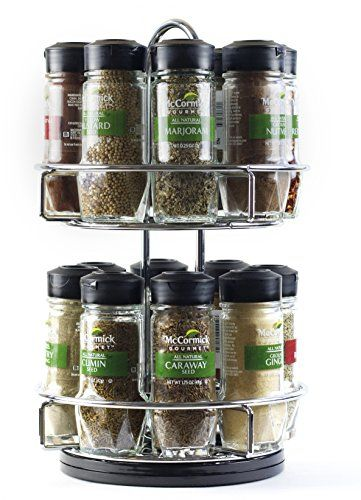 Mccormick Gourmet Spice Rack With Spices Included Spice Rack Holder Gourmet Recipes Cake