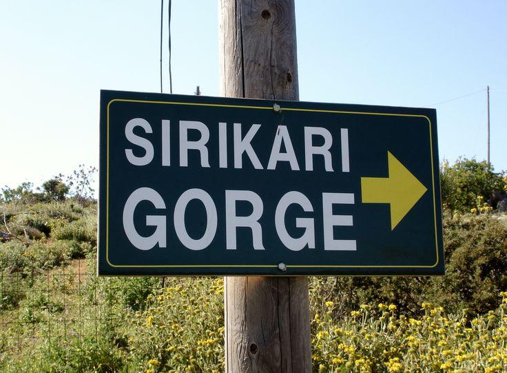 Gorge sign