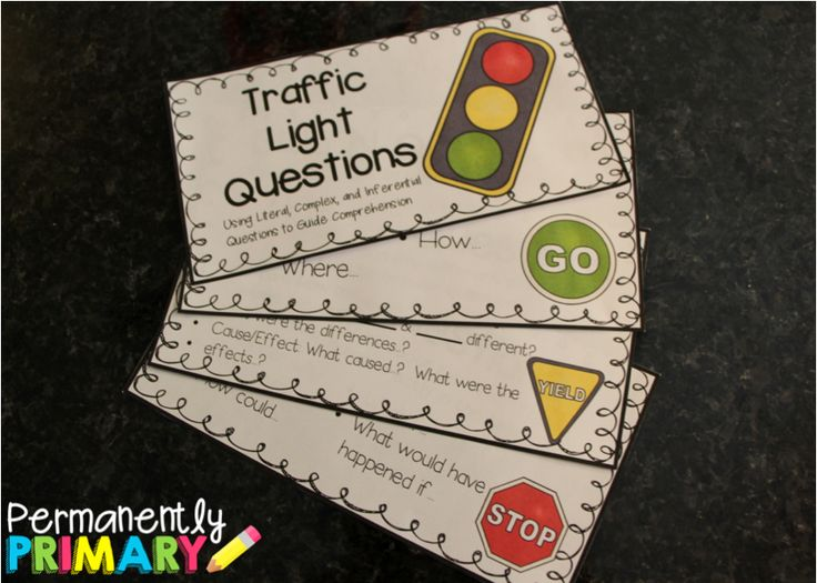 Freebie traffic light questions for guided reading! Literal, Complex, and Inferential Questions to Guide Comprehension!