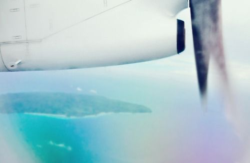 Flying over Boracay Island, the Philippines.
