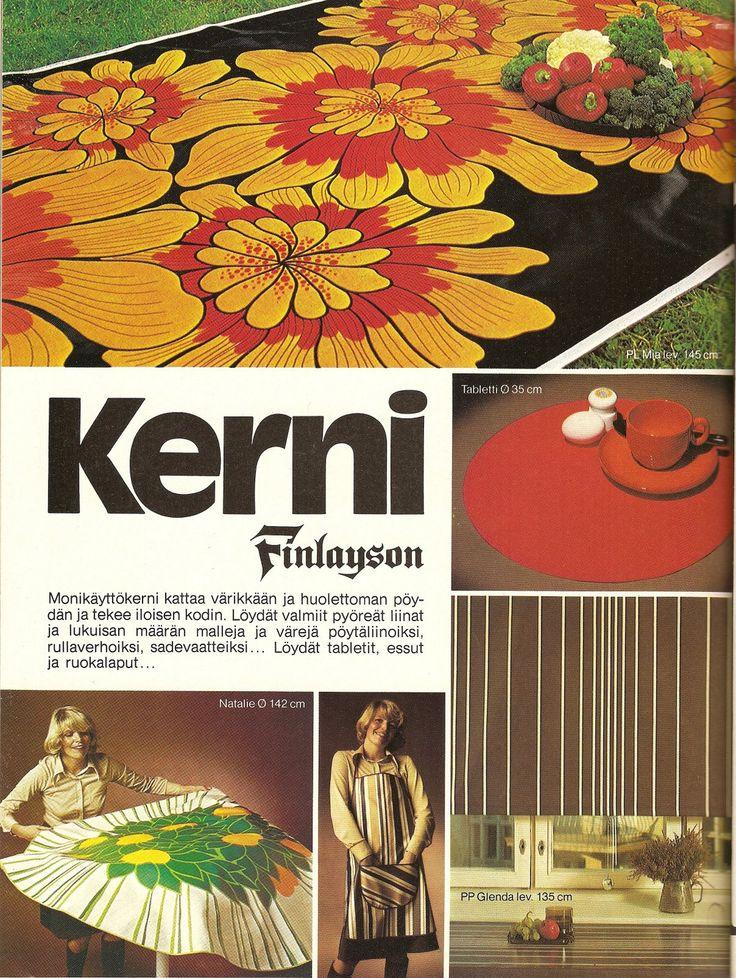Kerni - uusi materiaali, mainos 70-luvulta (70-luvulta, päivää ! -blogi) Finland