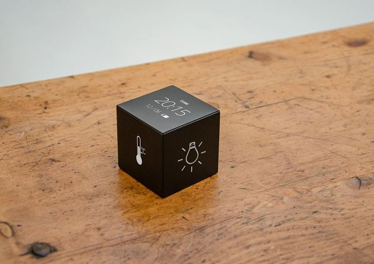 Cube is a tangible interface for smart home that controls appliances by touching, lifting, tilting and turning. It replaces remotes and bridges tactile needs to digital surroundings, such as lighting, temperature and music.