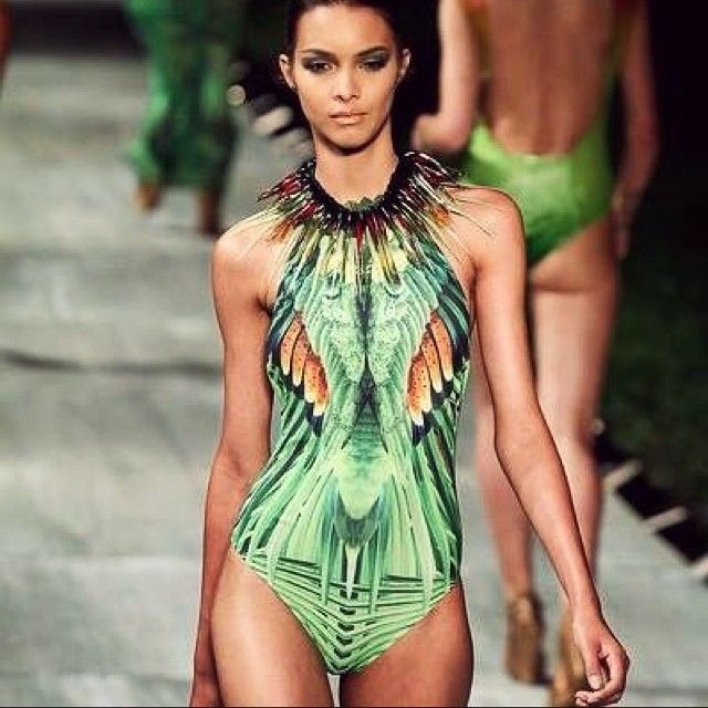 Digitally printed one piece swimsuit