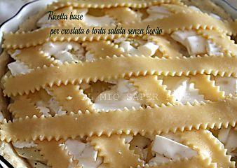 Ricetta base per crostata o torta salata senza lievito