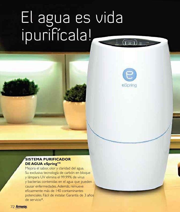 Espring sistema purificador del agua mejora el sabor - Luz de vida productos ecologicos ...