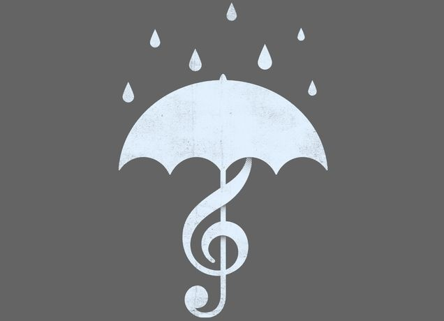 """""""Singing in the Rain"""" - Threadless.com - Best t-shirts in the world"""