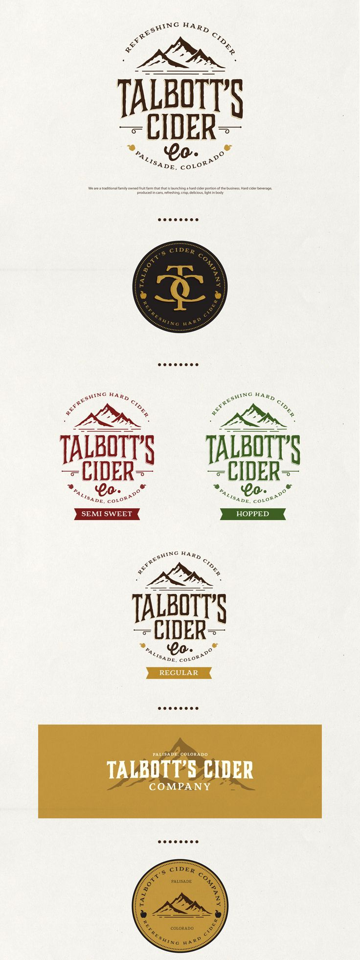 Like multiple elemnts that can be used on concert but all still feel like the same brand Hard Cider Brand
