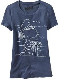 Women's Snoopy® Nautical Tees