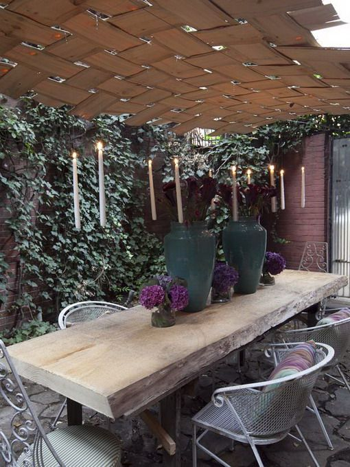 Elegant Oak Dining Table For Outdoor Space