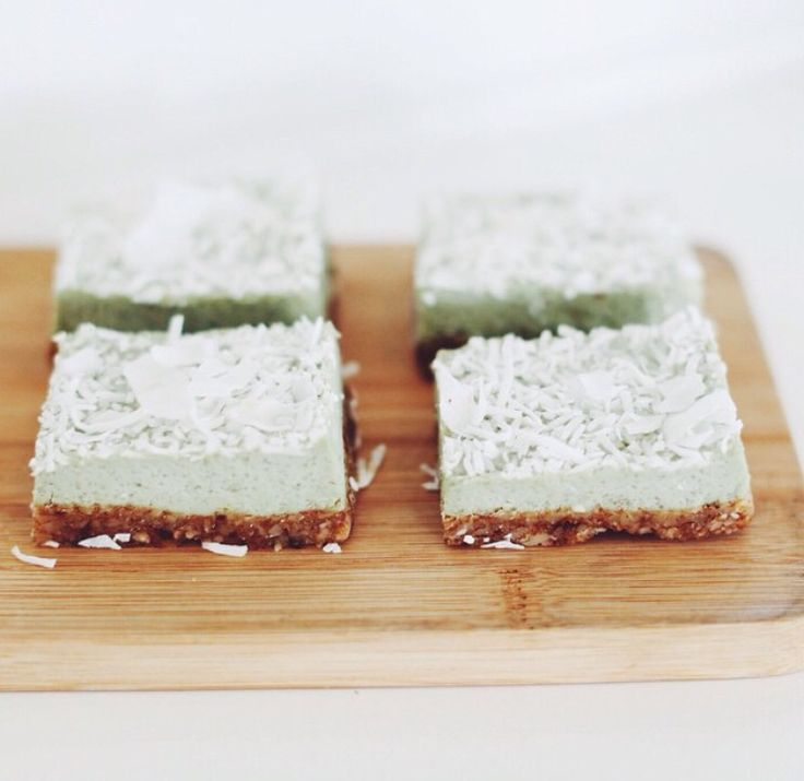 Lime & Coconut Raw Slice