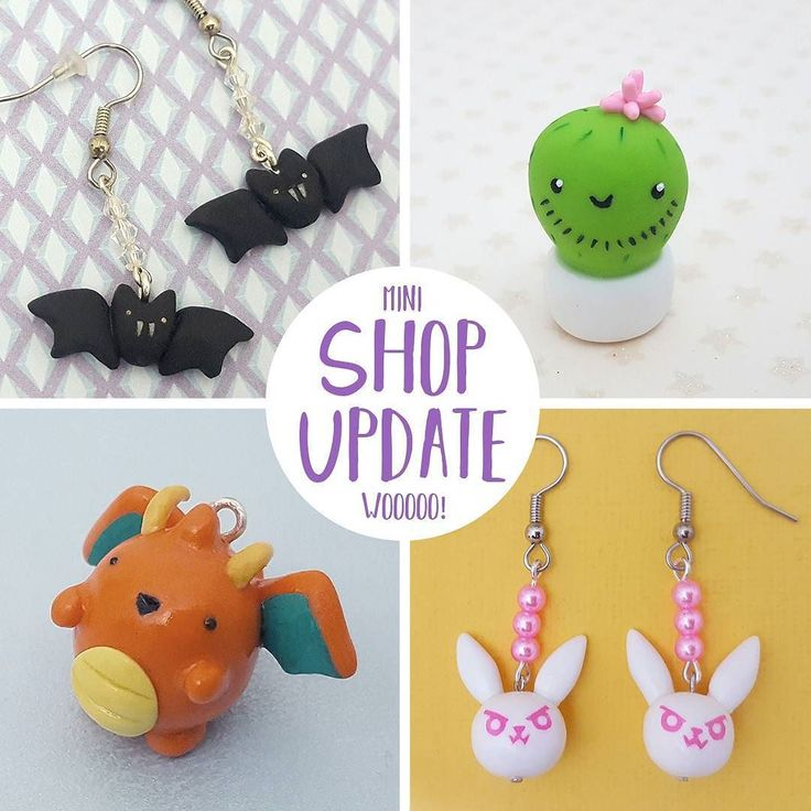 Mini shop update AND labor day sale!  I added some new items including my bearded cacti figurines!  For the sale you can get 15% off my summer items or pins/magnets :D Sale ends on Monday Sept 4  . . . #etsy #handmade #jewelry #laborday #labordaysale #sale #handmadejewelry #earrings #polymerclay #polymer #polymerclaycharms #pokemon #dva #overwatch #nerfthis #cactus #cacti #dragonite #kawaiicactus #kawaii