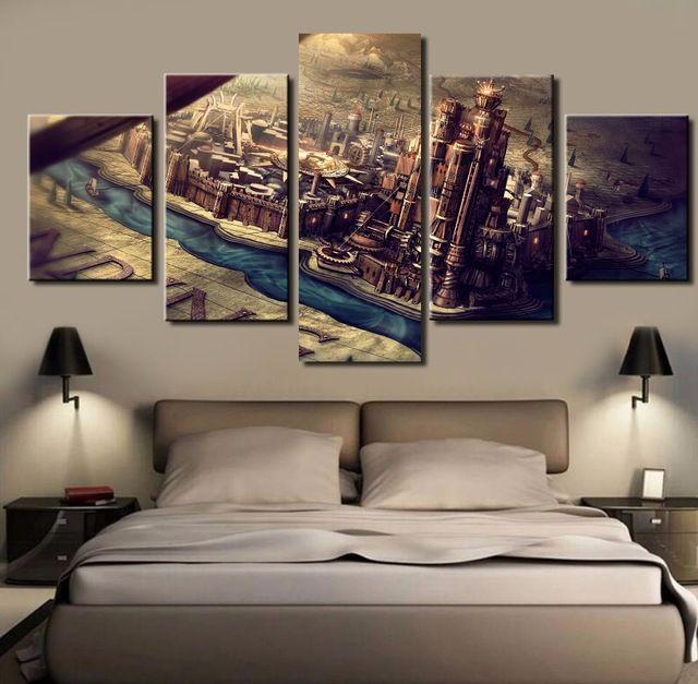 5 Unidades de Arte de la Lona Grande Juego de Tronos Decorativo Moderno pinturas al óleo sobre Lienzo Arte de La Pared para la Decoración del Hogar Decoración de La Pared obras de arte