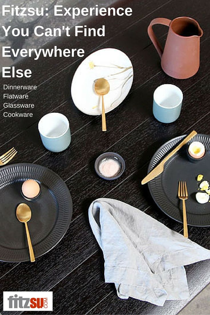 Unique modern tableware that you won't find everywhere else. Only at www.fitzsu.com