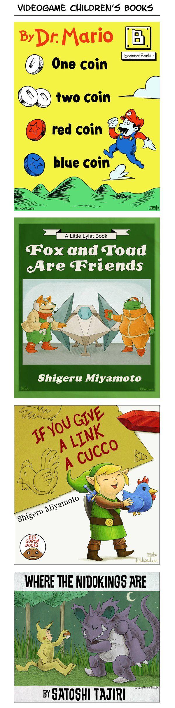 Video game children's books I wish were real