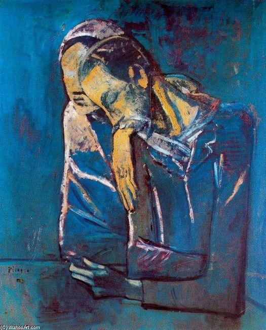 Pablo Picasso >> La Pareja     (oleo, obra de arte, reproducción, copia, pintura).                                                                                                                                                                                 Más