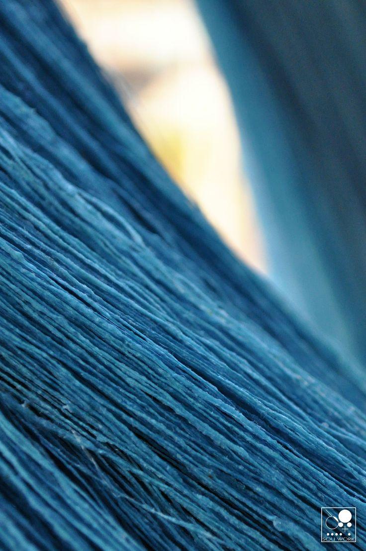 藍生葉染め