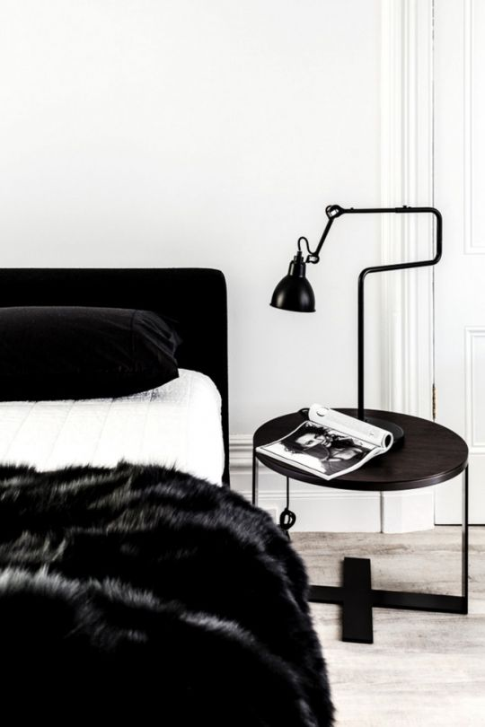 vosgesparis a terrace apartment in black white by pamela makin - Black White Bedroom Decorating Ideas