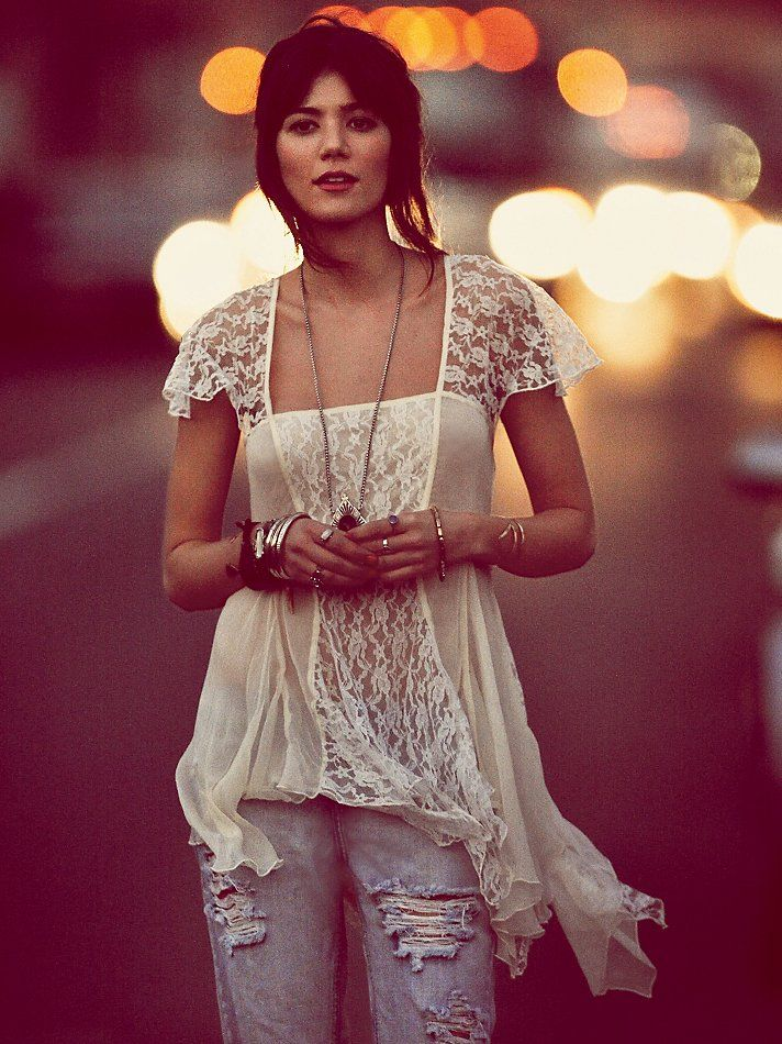 """Okay if i haven't said it before """"I love Free People""""   Free People On A Whim Lace Top http://www.freepeople.com/february-catalog-sneak-preview-3/on-a-whim-lace-top/"""
