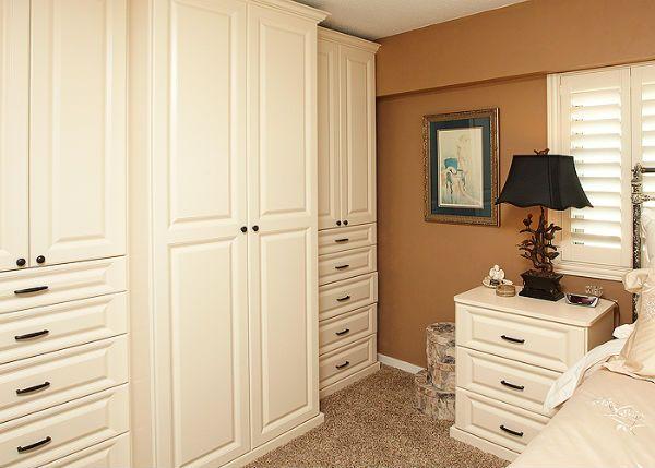 custom wall closet custom built in wall unit by custom closets direct - Bedroom Wall Closet Systems