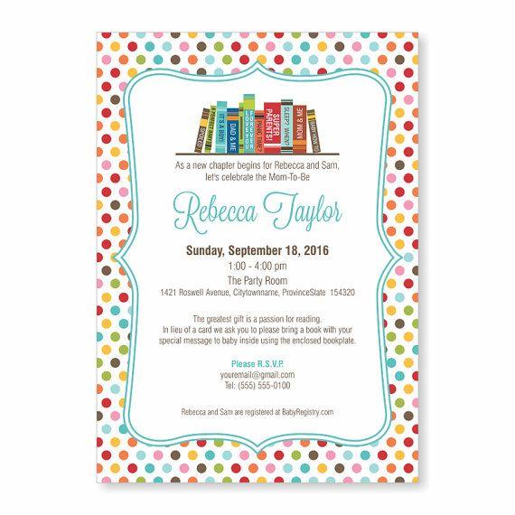 book theme baby shower invite story book baby shower invitation bring a book invite
