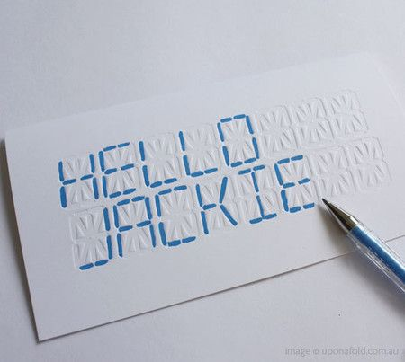 LCD 'WRITE YOUR OWN MESSAGE' CARD