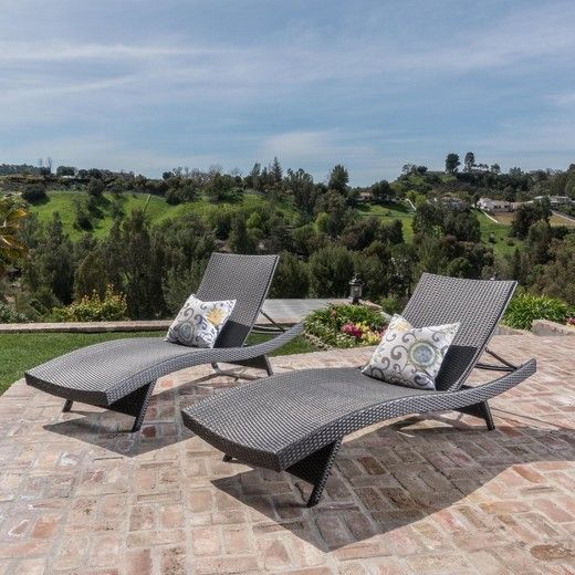 The Christopher Knight Home Salem 2 Pk Wicker Lounges with Covers is the absolute best outdoor lounge set. Made from the highest-quality wicker, these lounges are both supple and supportive, woven so as to cradle your body perfectly so that you can enjoy your weekends or afternoons outdoors. Durable and weather-resistant, they comes with covers for extra protection from the elements.