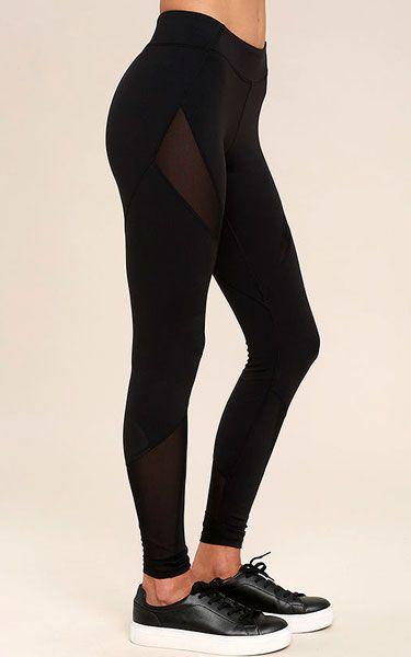 Stylish Stride Black Leggings via @bestchicfashion
