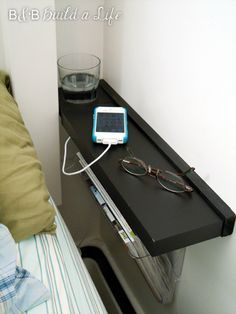 DIY streamlined cup holder and nightstand fix for small spaces @ BandBBuildAlife.com