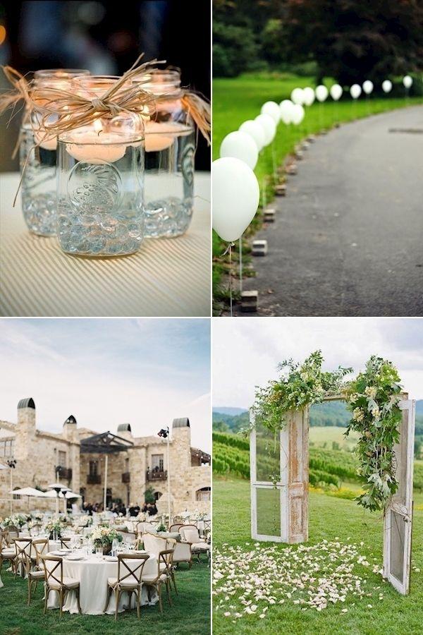 Simple Wedding Ideas Wedding Decoration Ideas Diy Little Wedding Ideas In 2020 Diy Wedding Decorations Unique Weddings Wedding