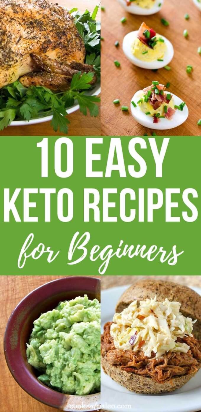 10 Easy Keto Recipes For Beginners Keto Recipes Easy Keto Diet Food List Keto Diet Benefits