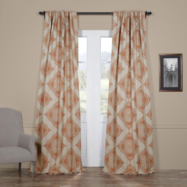 Henna Orange 50 X 96 Inch Blackout Curtain Half Price Drapes Drapery Sets Window