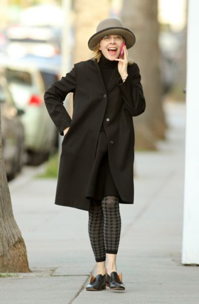 Diane Keaton.  Aged gracefully & with style.