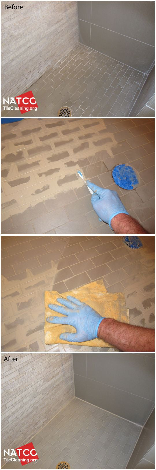 19 best grout colorsealing before and after images on pinterest how to clean and colorseal the grout in a shower floor with small mosaic floor tiles dailygadgetfo Images