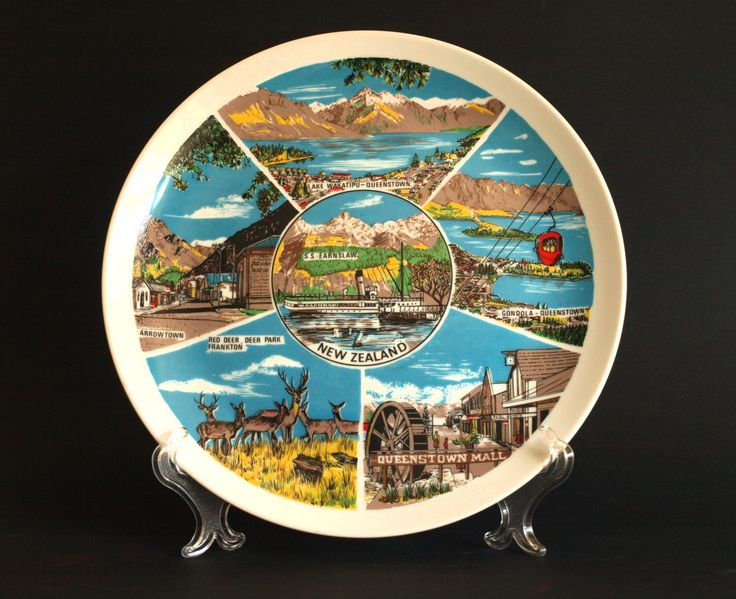 Decorative Wall Plates Nz : Best images about vintage new zealand souvenirs on