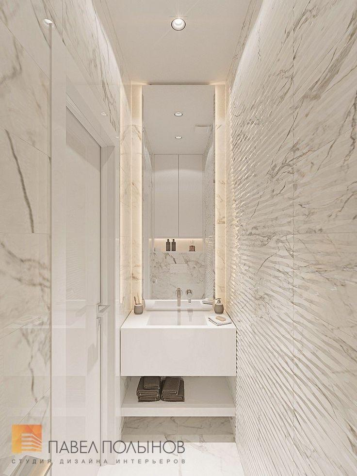 Фото: Санузел - Интерьер однокомнатной квартиры в современном стиле