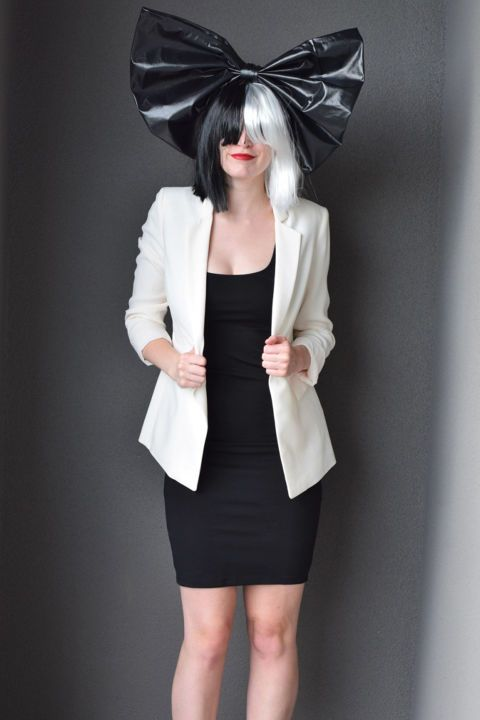 Here's a cheap thrill: The only thing you need to buy for this Sia costume is her signature two-toned wig. You can get it on Amazon for less than $10, then wear whatever black and white ensemble you have at home. Bonus points if you get a friend to dress up as Maddie Ziegler. See more on Bunny Baubles »